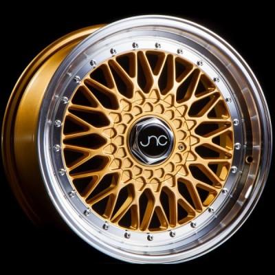JNC004 Gold Machined Lip 16x8 4x100/4x114.3 et20