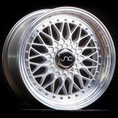 JNC004 Silver Machined Lip 16x8 5x100/5x114.3 et25