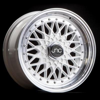 JNC004 White Machined Lip 16x8 5x100/5x114.3 et25