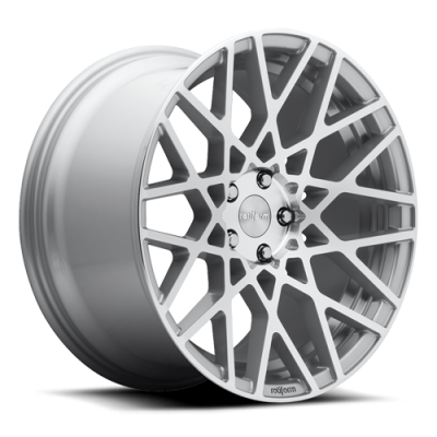 ROTIFORM BLQ 18x8.5 5x100 +35 57.1 Silver & Machined