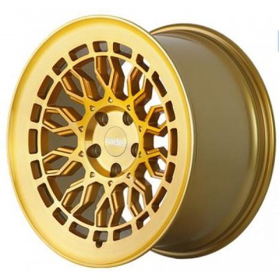r8a10 19X8.5 5X112.00 ET45 GOLD BRUSHED FACE