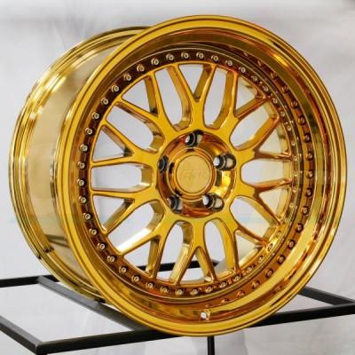 18X10.5 5X120 +22 74.1 VACUUM GOLD CHROME SR01