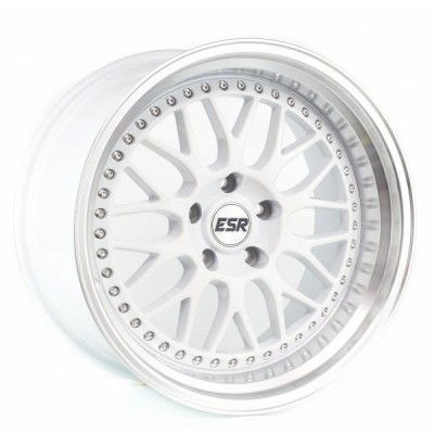 17X8.5 5X100 +30 73.1 WHITE/MACH LIP SR01