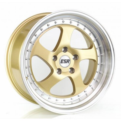 17X8.5 5X100 +30 73.1 GOLD/MACH LIP SR02