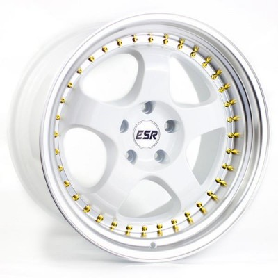 17X8.5 5X100 +30 73.1 GLOSS WHITE/ MACH LIP SR06
